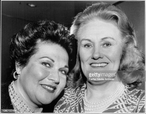 Joan Sutheralnd and Marilyn Horne at there Press Conference.Patrick Veitch of the Australian opera company watches as his two stars answer the...