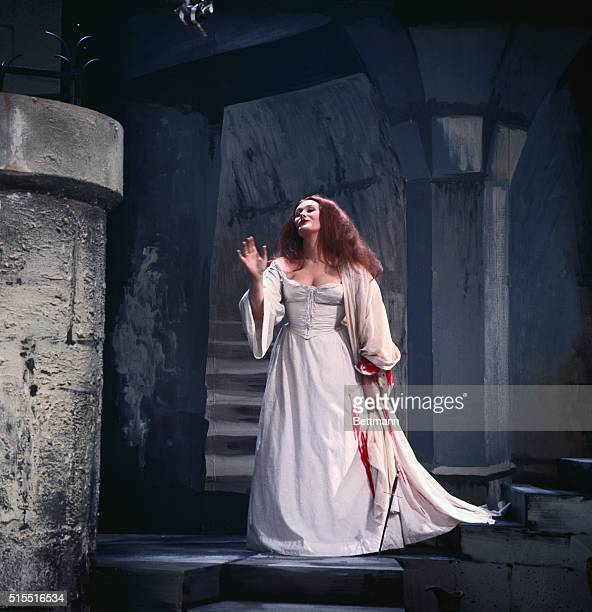 Joan Sutherland performs her most famous role Lucia in Lucia Di Lammermoor for the television show she is filming Her performance of this role has...