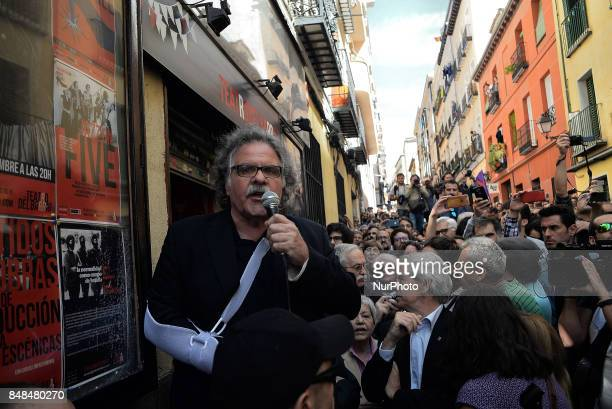Joan Tardà Deputy to Congress of The Republican Left of Catalonia during the act in support to the referendum of the 1O in Catalonia in Madrid Spain...