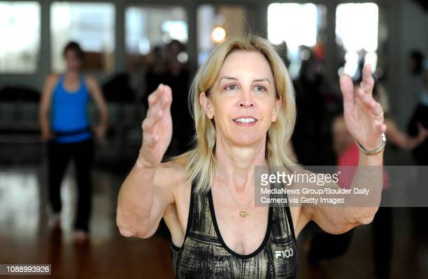 Joan Taylor works out with the class on Thursday Jan 19 during a Sole Control workout at the Lakeshore Athletic Club in Broomfield For more photos...