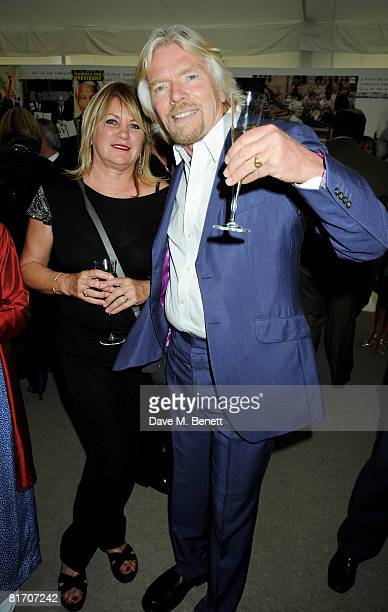 Joan Templeman and Sir Richard Branson attend the dinner in honour of Nelson Mandela, celebrating his 90th birthday, at Hyde Park on June 25, 2008 in...