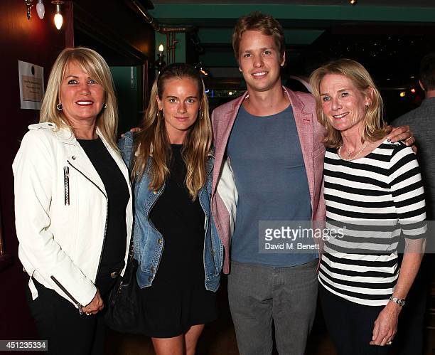 Joan Templeman, Cressida Bonas, Sam Branson and Lady Mary-Gaye Georgiana Lorna Curzon attend an after party following the press night performance of...