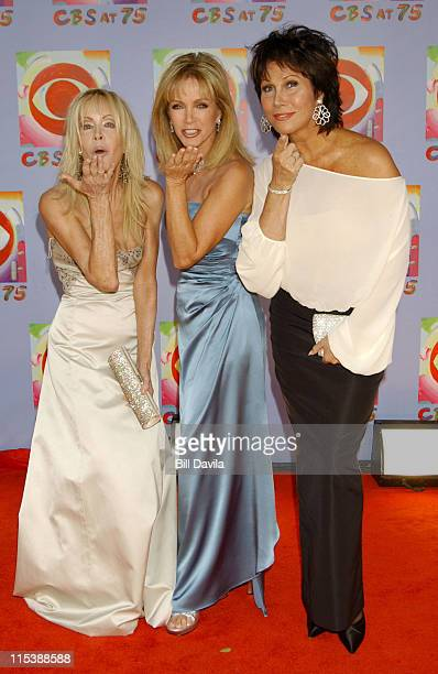 Joan Van Ark, Donna Mills, Michelle Lee during CBS at 75 - Commemorating CBS'S 75th Anniversary - Arrivals at The Hammerstein Theater in New York...