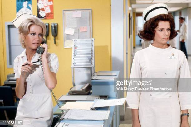 Joan Van Ark Joan Hotchkis appearing on the ABC tv series 'The New Temperatures Rising Show' episode 'The New Head Nurse'