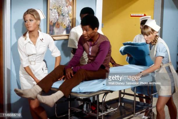 Joan Van Ark Mwako Cumbuka Nancy Fox appearing on the ABC tv series 'The New Temperatures Rising Show' episode 'Operation Fastball'