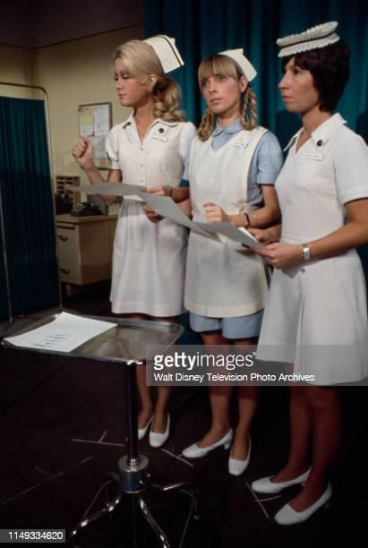 Joan Van Ark Nancy Fox Reva Rose appearing on the ABC tv series 'The New Temperatures Rising Show' episode 'RX Nose Job'