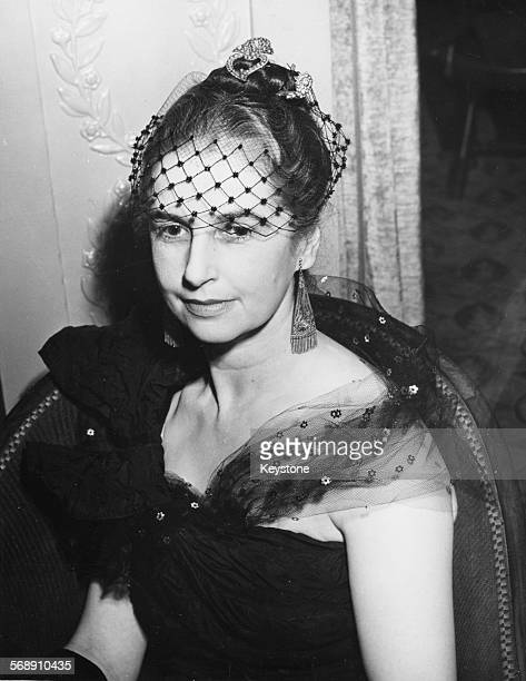 Joan Vickers who received an MBE for her work with POWs in the Far East during World War Two wearing Malayan jewels and earrings as she attends the...
