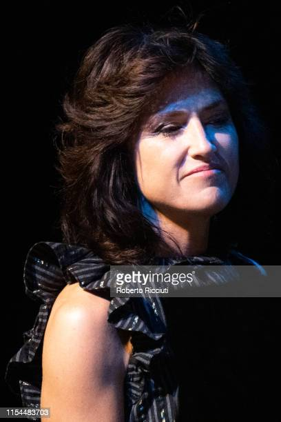 Joan Wasser, known by her stage name Joan As Police Woman, performs an intimate concert at Pleasance Theatre on July 7, 2019 in Edinburgh, Scotland.