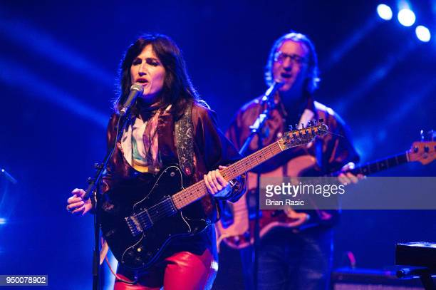 Joan Wasser of Joan As Policewoman performs live on stage at The Royal Festival Hall on April 22 2018 in London England