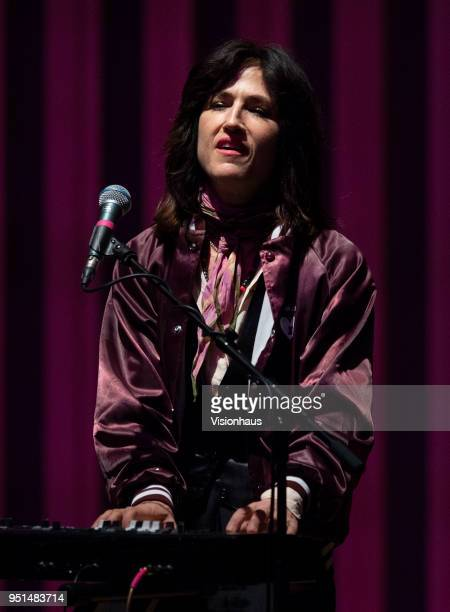 Joan Wasser, otherwise known as Joan As Police Woman performs at the Stoller Hall on April 24, 2018 in Manchester, England.