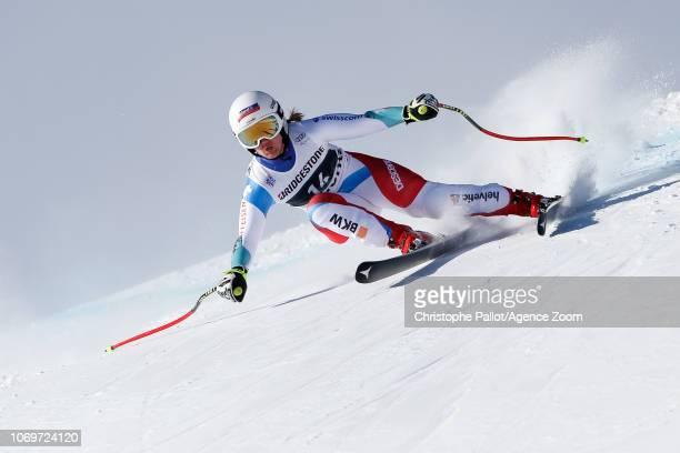 Joana Haehlen of Switzerland competes during the Audi FIS Alpine Ski World Cup Women's Super G on December 8 2018 in St Moritz Switzerland