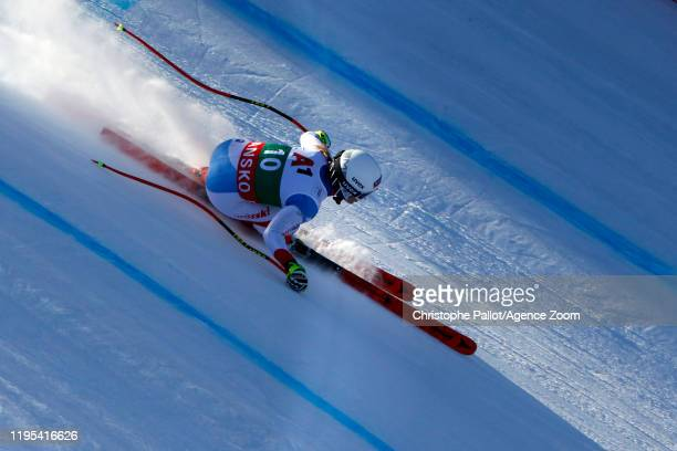 Joana Haehlen of Switzerland in action during the Audi FIS Alpine Ski World Cup Women's Downhill Training on January 23 2020 in Bansko Bulgaria