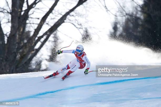 Joana Haehlen of Switzerland in action during the Audi FIS Alpine Ski World Cup Women's Super G on February 9, 2020 in Garmisch Partenkirchen,...