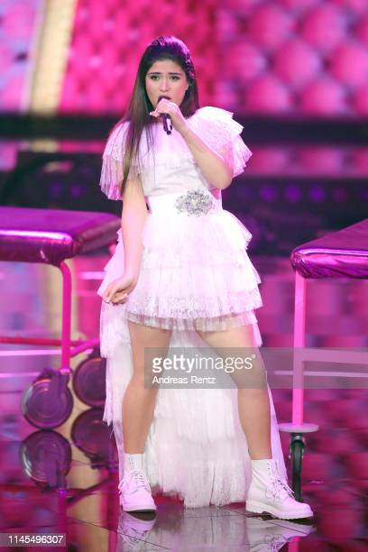 Joana Kesenci performs during the season 16 finals of the tv competition show Deutschland sucht den Superstar at Coloneum on April 27 2019 in Cologne...