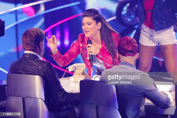 Joana Kesenci performs during the second event show of the tv competition Deutschland sucht den Superstar at Coloneum on April 13 2019 in Cologne...