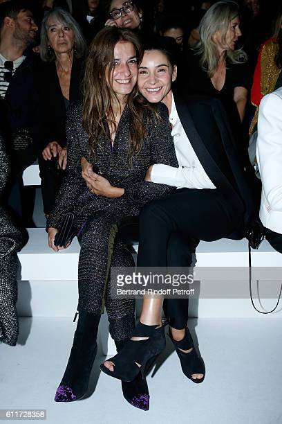 Joana Preiss and Princess of Savoy Clotilde Courau attend the Haider Ackermann show as part of the Paris Fashion Week Womenswear Spring/Summer 2017...