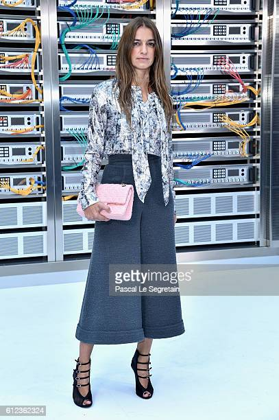 Joana Preiss attends the Chanel show as part of the Paris Fashion Week Womenswear Spring/Summer 2017 on October 4, 2016 in Paris, France.