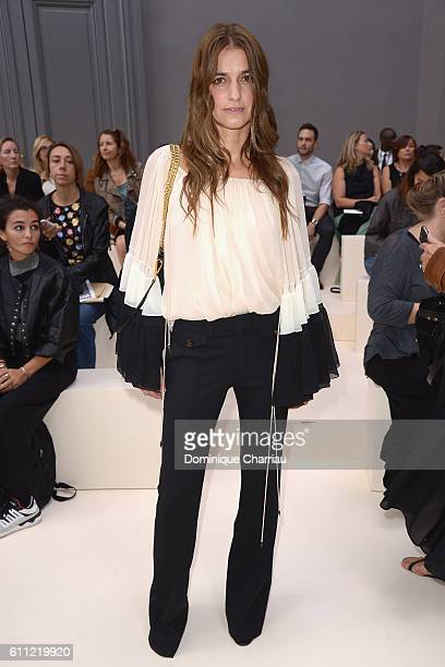 Joana Preiss attends the Chloe show as part of the Paris Fashion Week Womenswear Spring/Summer 2017 on September 29 2016 in Paris France