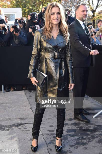 Joana Preiss is seen arriving at Chanel show during Paris Fashion Week Womenswear Spring/Summer 2018on October 3 2017 in Paris France