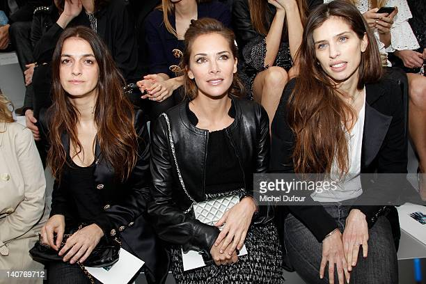 Joana Preiss Melissa Theuriau and Maiwenn Le Besco attend the Chanel ReadyToWear Fall/Winter 2012 show as part of Paris Fashion Week at Grand Palais...