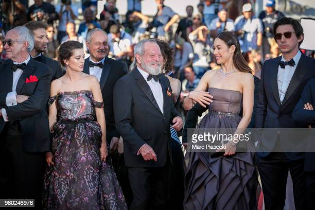 Joana Ribeiro director Terry Gilliam and actress Olga Kurylenko attend the Closing Ceremony screening of 'The Man Who Killed Don Quixote' during the...