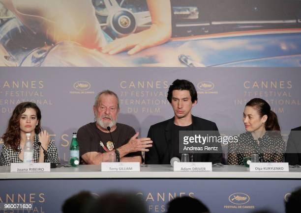Joana Ribeiro Terry Gilliam Adam Driver and Olga Kurylenko attend 'The Man Who Killed Don Quixote' Press Conference during the 71st annual Cannes...