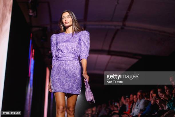 Joana Sanz walks the runway at the EIKO AI show during the Barcelona 080 Fashion Week on February 04 2020 in Barcelona Spain