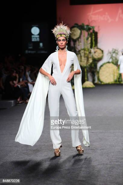 Joana Sanz walks the runway at the Francis Montesinos show during the MercedesBenz Fashion Week Madrid Spring/Summer 2018 at Ifema on September 15...