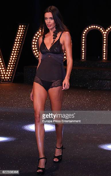 Joana Sanz walks the runway during the presentation of Elsa Pataky's new Women'Secret musical at Fine Arts Circle on November 10 2016 in Madrid Spain