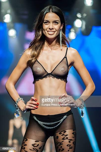 Joana Sanz walks the runway during the Women's Secret videoclip premiere at Sala La Riviera on November 11 2015 in Madrid Spain
