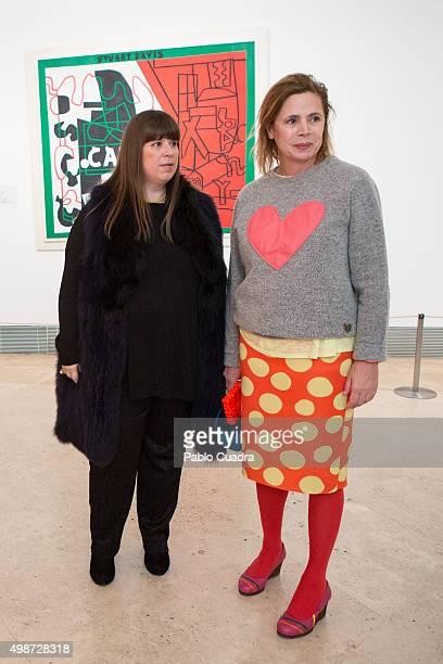 Joana Vasconcelos and Agatha Ruiz de la Prada present 'Strangers In The Night' exhibition at the Thyssen Bornemisza Museum on November 25 2015 in...