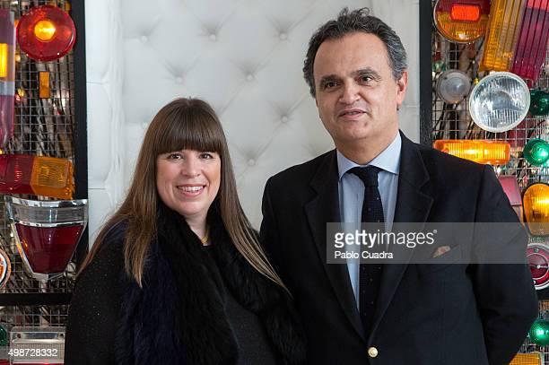 Joana Vasconcelos and Francisco Ribeiro Menezes present 'Strangers In The Night' exhibition at the Thyssen Bornemisza Museum on November 25 2015 in...