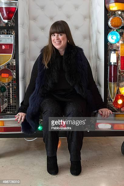 Joana Vasconcelos presents her exhibition 'Strangers In The Night' at the Thyssen Bornemisza Museum on November 25 2015 in Madrid Spain