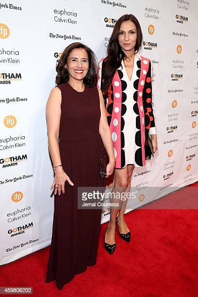 Joana Vicente and Famke Janssen attend IFP's 24th Gotham Independent Film Awards at Cipriani Wall Street on December 1 2014 in New York City