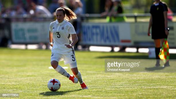 Joana Weber of Germany runs with the ball during the U15 girl's international friendly match between Germany and Netherlands at Getraenke Hoffmann...