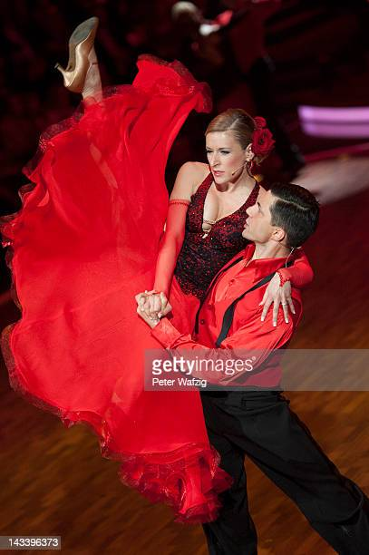 Joana Zimmer and Christian Polanc perform during 'Let's Dance' 7th Show at Coloneum on April 25 2012 in Cologne Germany