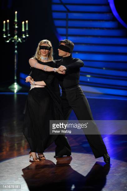 Joana Zimmer and Christian Polanc perform during the 'Let's Dance' TV Show on March 21 2012 in Cologne Germany