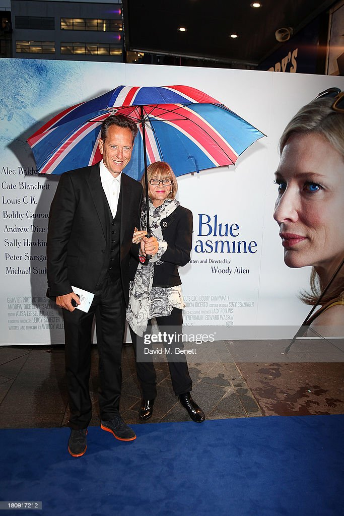 Joane Washington and Richard E Grant attend the UK premiere of 'Blue Jasmine' at Odeon West End on September 17, 2013 in London, England.