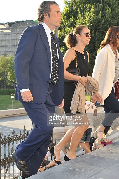 Joanes Osorio and Blanca Suelves attend the memorial service for Prince Kardam of Bulgaria at San Jeronimo el Real church on June 8 2015 in Madrid...