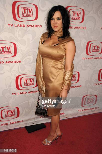 Joanie Chyna Laurer during 5th Annual TV Land Awards Red Carpet at Barker Hangar in Santa Monica California United States
