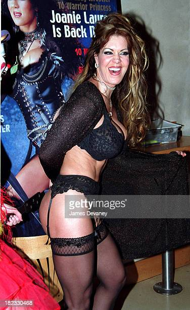 Joanie Laurer aka Chyna former WWE wrestler during Joanie Laurer aka Chyna promotes her cover of Playboy magazine at Virgin Megastore in New York...