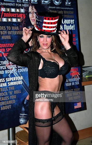 Joanie Laurer aka Chyna former WWE wrestler during Joanie Laurer aka Chyna promotes her cover of Playboy magazine at Virgin Megastore in New York...