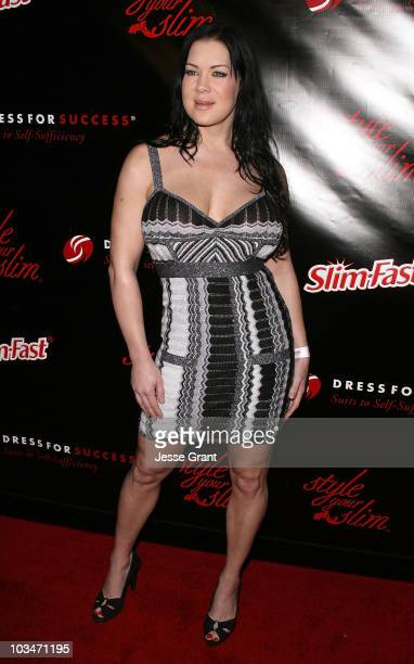 Joanie Laurer arrives at the Style Your Slim event presented by Slim Fast at Boulevard3 on January 8 2007 in Hollywood California