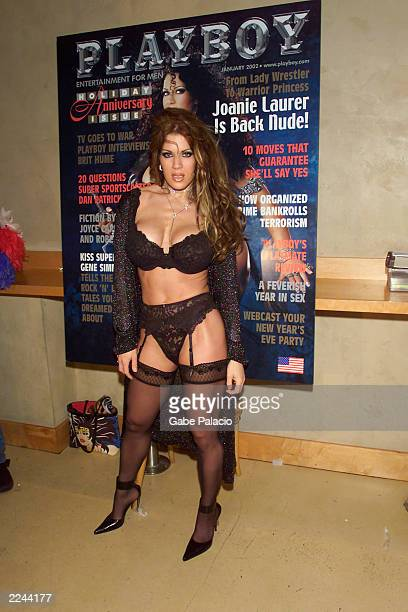 Joanie Laurer who formerly played the character Chyna for the WWF at the Virgin Mega Store in Union Square in New York City on November 26 2001 to...