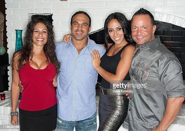Joanie Maiorella Joe Gorga Melissa Gorga and Frank Sorrentino visit Park East on July 8 2011 in Hazlet New Jersey