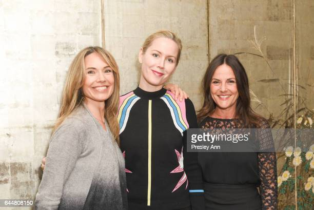 Joanie Wread Megan Dodds and Gia Carides attend Sound Breast Institute Reception Hosted by Embeth Davidtz on February 23 2017 in Los Angeles...