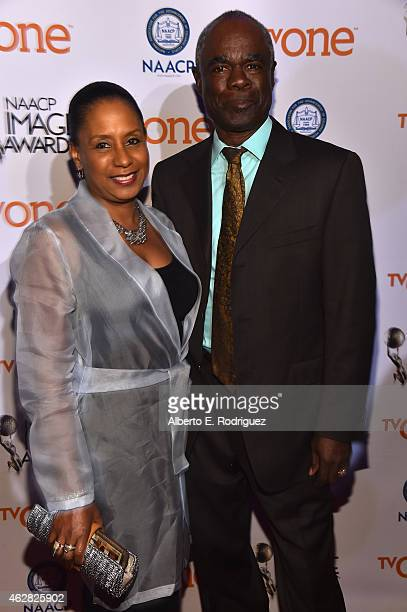 JoAnn Allen and actor Glynn Turman attends the 46th NAACP Image Awards NonTelevised Awards Ceremony at Pasadena Convention Center on February 5 2015...