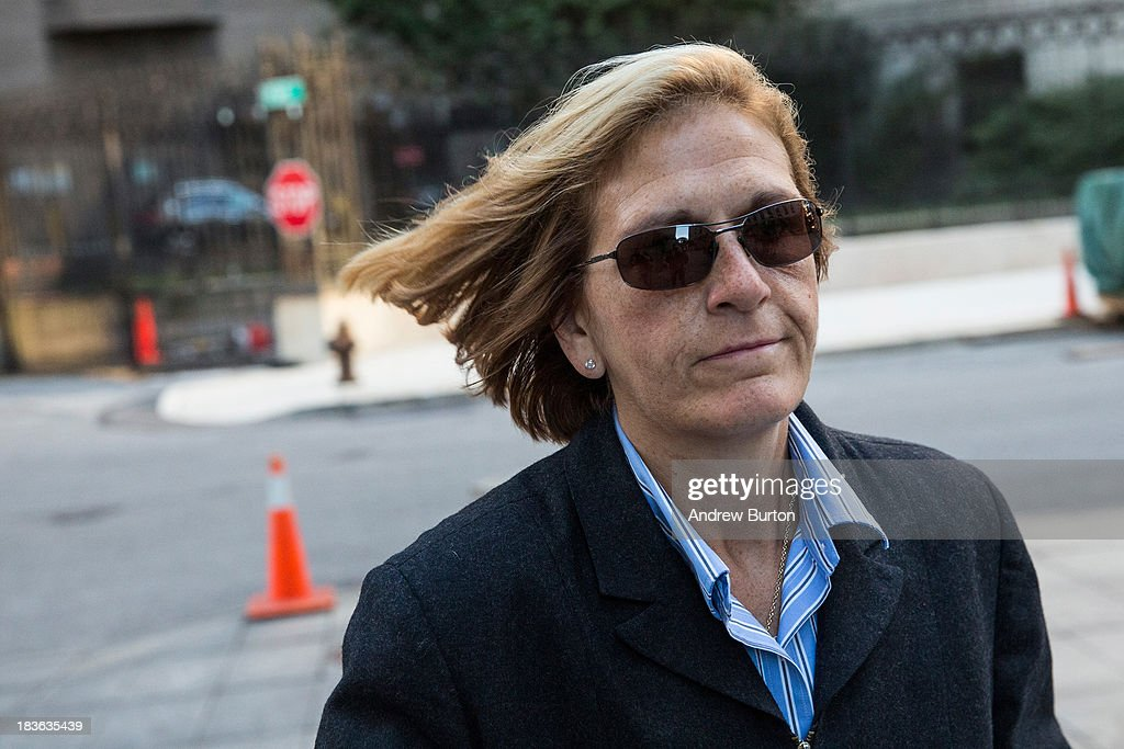 JoAnn Crupi, a former account manager working under Bernie Madoff, arrives at Federal Court, to begin a trial being brought against her by the federal government on October 8, 2013 in New York City. Federal prosecutors allege that Crupi worked for Madoff and knowingly supported the largest Ponzi in history, which Madoff led. Prior to the collapse of the scheme, Madoff reported that his accounts held approximately $68 billion, when they in fact only held a few hundred million dollars. Madoff was found guilty and is serving a 150-year sentence in North Carolina.