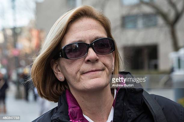 JoAnn Crupi age 52 who managed accounts for Madoff Investment Securities leaves federal court after being found guilty of charges of aiding assisting...