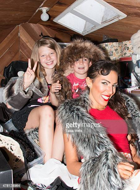 JoAnn Ferro Kayden Everhart and TV Personality Mandy Ross backstage at The SAP The Starving Artists Project on June 22 2015 in Los Angeles California